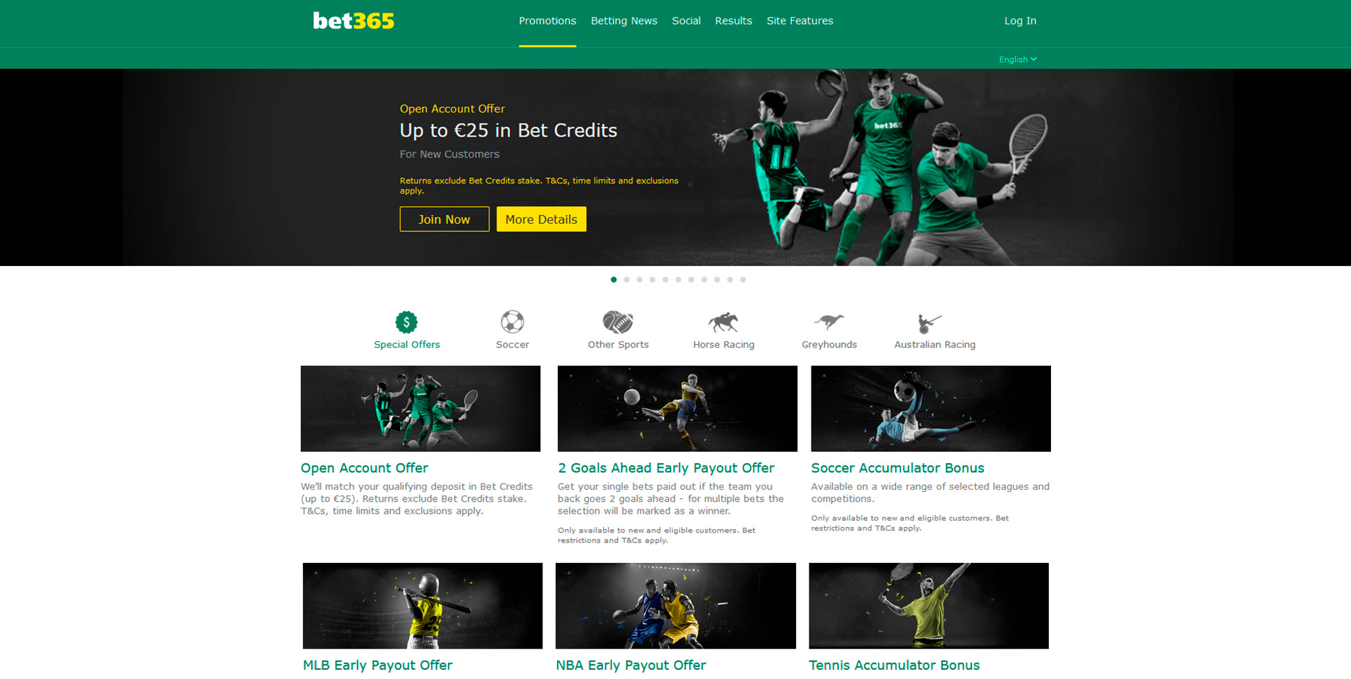 Bet365 bonuses and promotions.