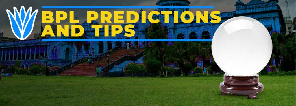 BPL predictions and tips