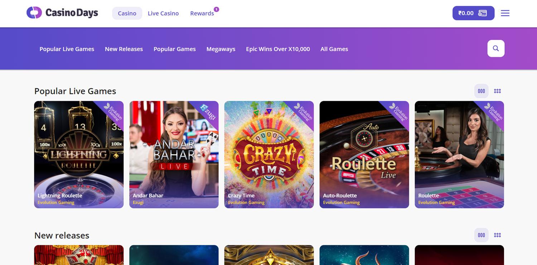 Casino days page.