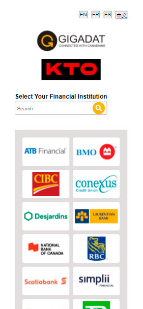 choose the deposit method on kto.