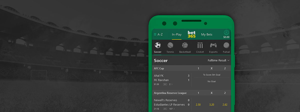 Bet365 mobile broadcasting.