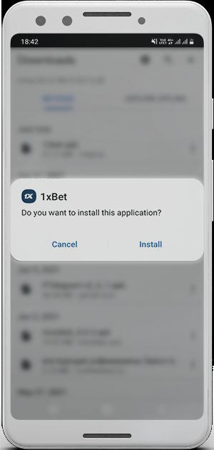 1xbet app installation