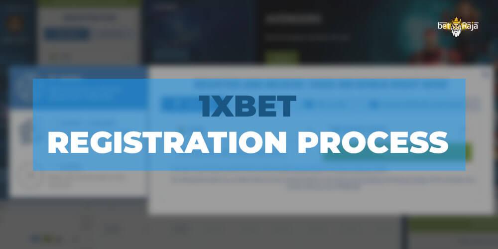 1xbet registration process