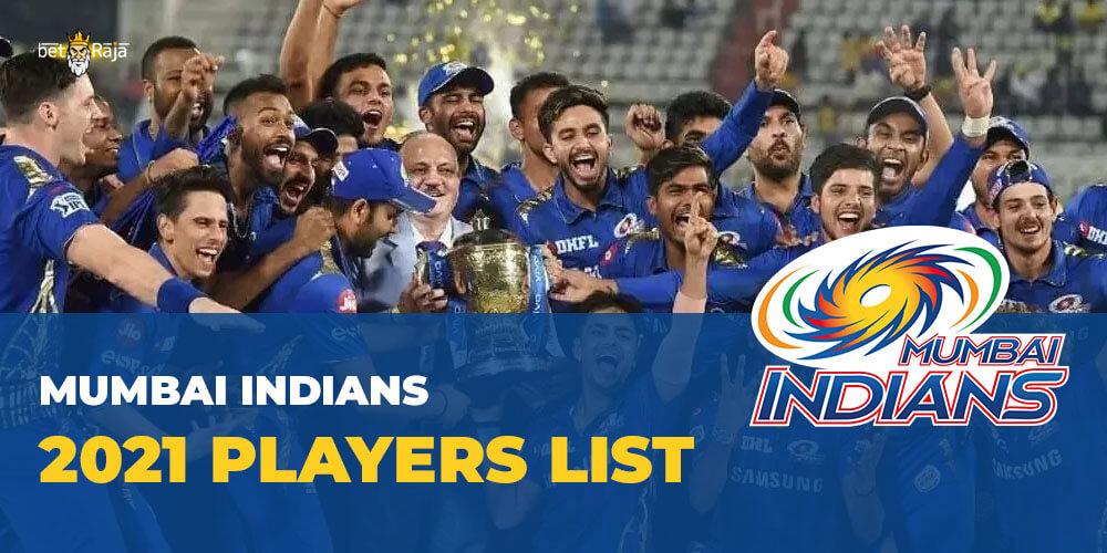 Mumbai Indians 2021 Players List