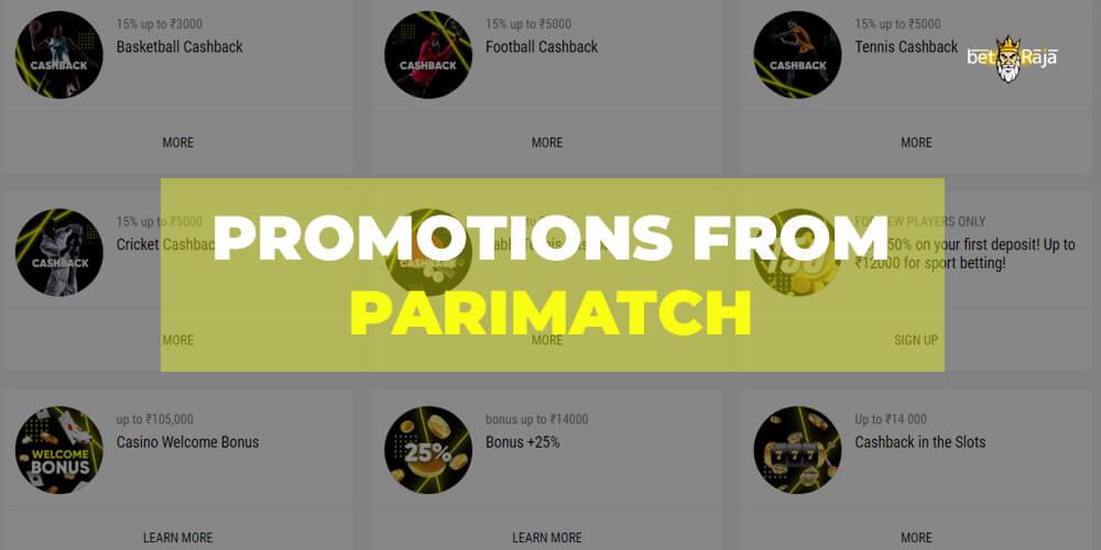 Parimatch promotions