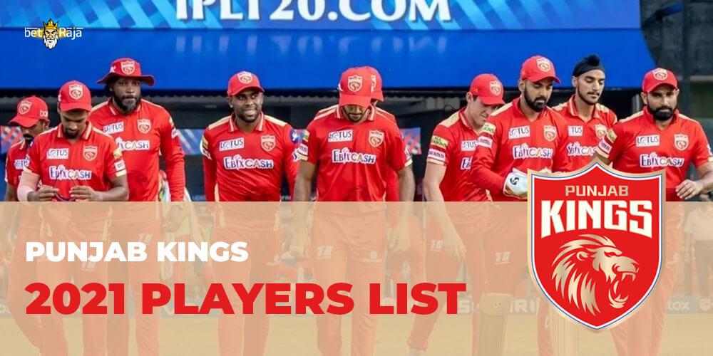 Punjab Kings 2021 Players List