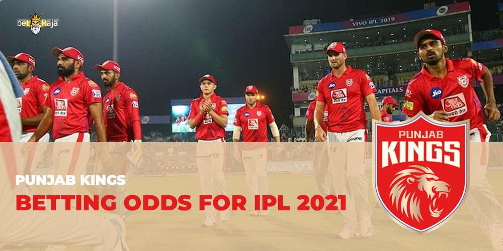 Punjab Kings BETTING ODDS FOR IPL 2021