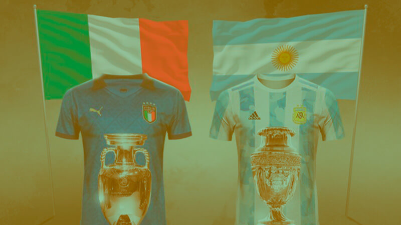 Italy vs Argentina in the super cup.