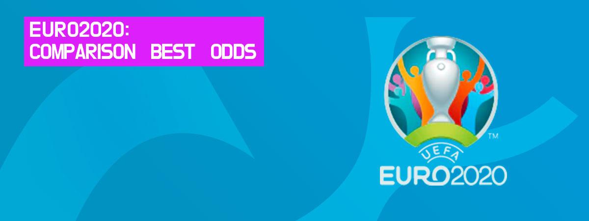 Odds comparison on euro 2020.
