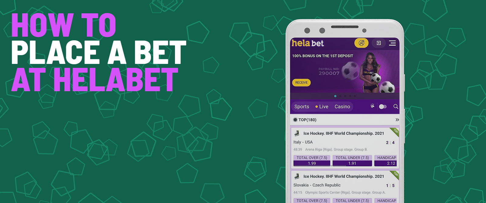 how to place a bet at helabet