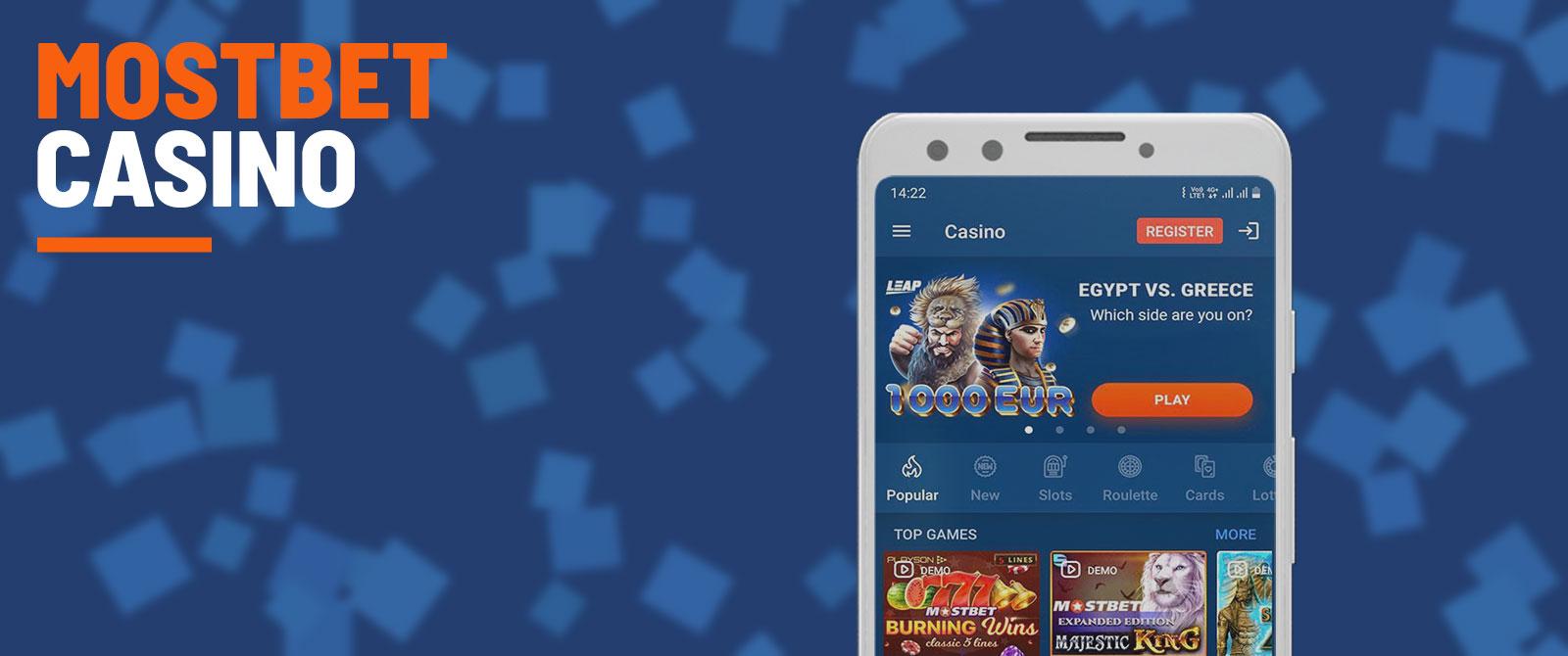 Mostbet casino platform.