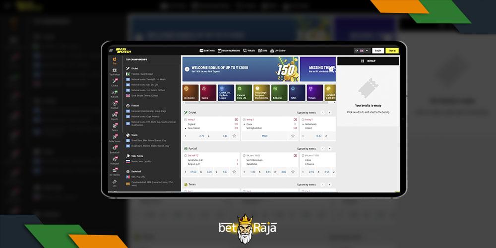 Parimatch Mobile Website Overview