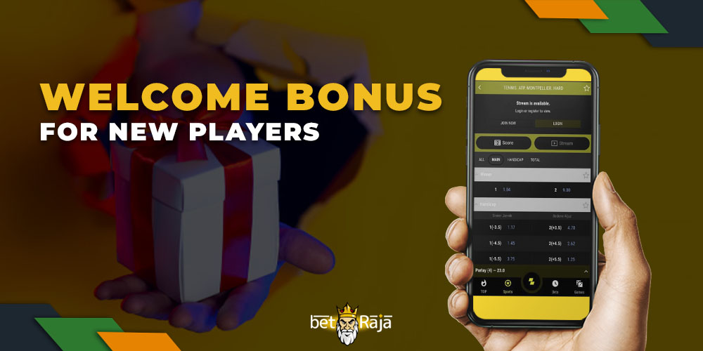 Welcome bonus for new Parimatch players