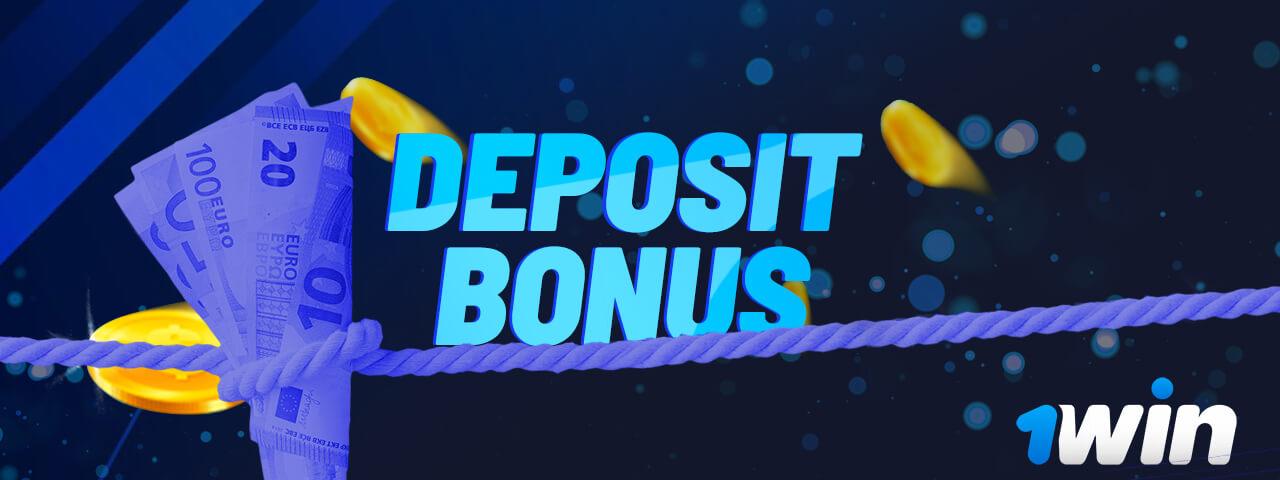 Deposit bonuses on 1win.