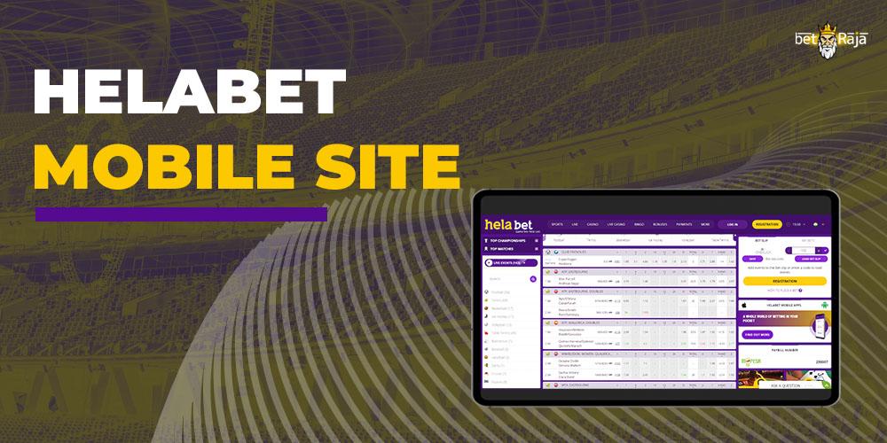 Helabet mobile Site