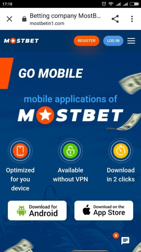 Download mostbet adnroid app in India apk file
