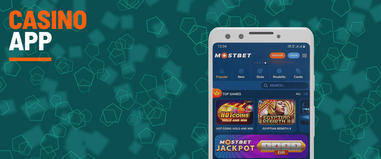 Mostbet casino app and games.