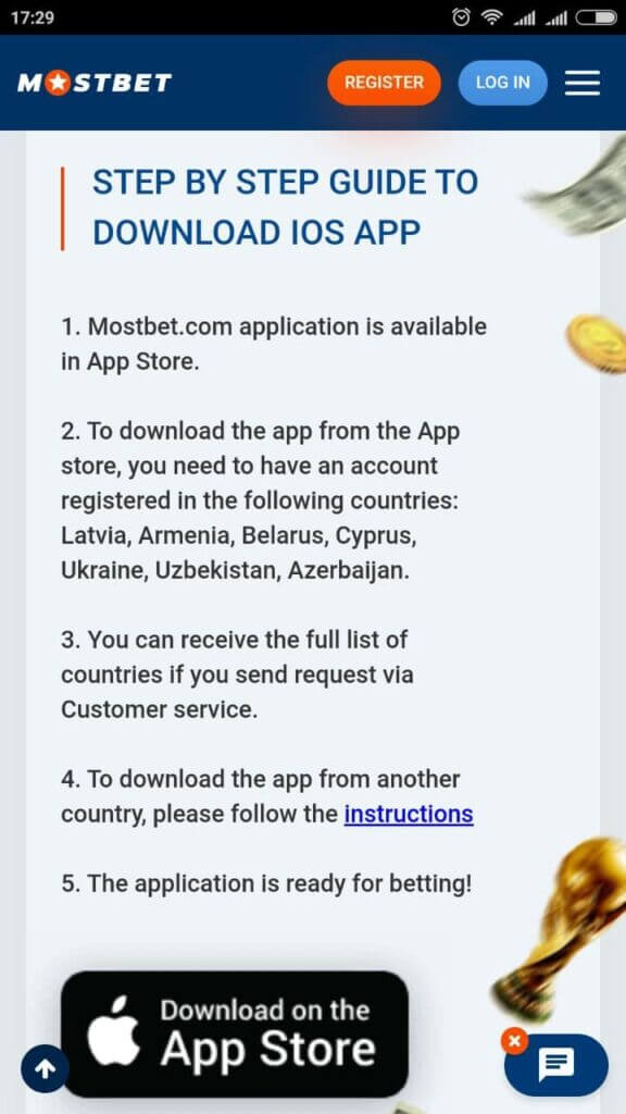 mostbet ios app download in India