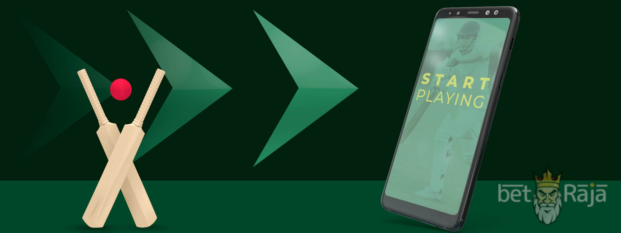 Start betting on cricket via android and ios apps.