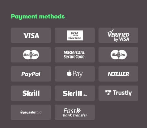 10bet payment options