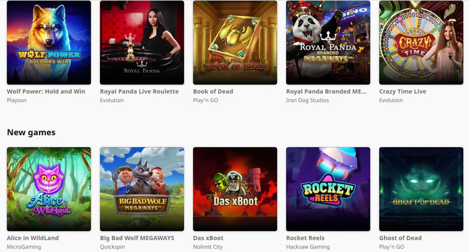 Royal Panda casino slots