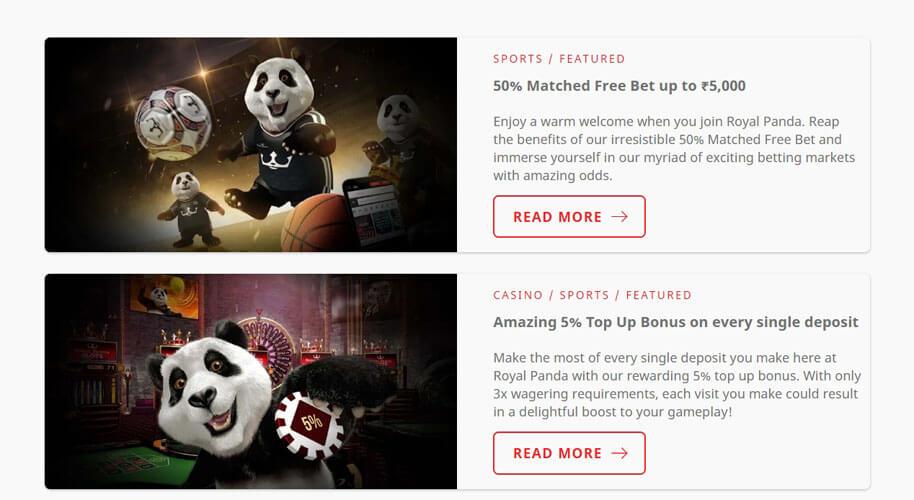 Royal Panda free bet