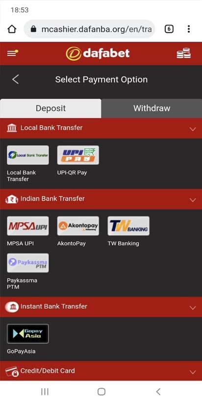 choose an appropriate deposit method.