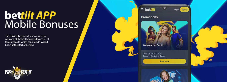 Bettilt App mobile bonuses.