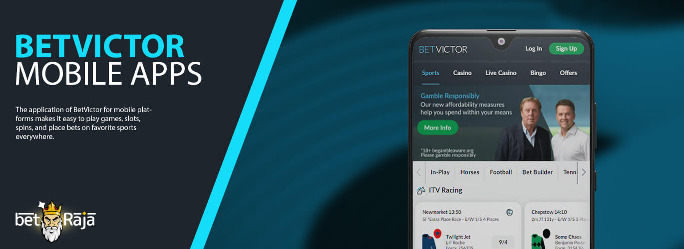 Betvictor mobile apps.