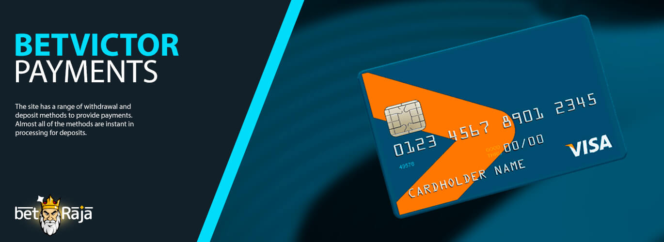 All BetVictor banking options. How to deposit and withdrawal money.