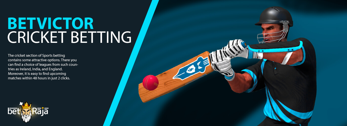 BetVictor cricket betting odds.